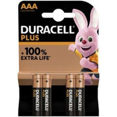 Batterij Duracell Plus 100% AAA (4)