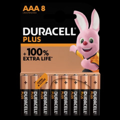 Batterij Duracell Plus 100% AAA (8)