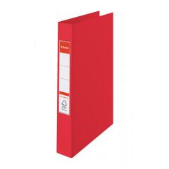 Ringmap Esselte PP A4 2 O-ringen 25mm rug 3,5cm rood (8230300)
