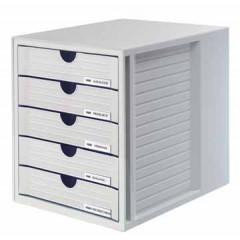 Ladenblok Han Systembox met gesloten laden lichtgrijs