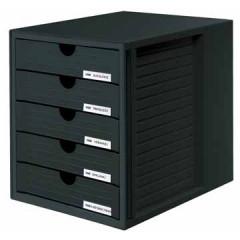 Ladenblok Han Systembox met gesloten laden zwart