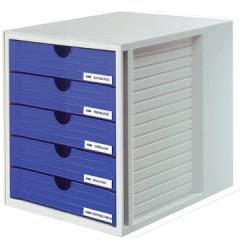 Ladenblok Han Systembox met gesloten laden blauw