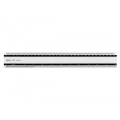 Liniaal Aristo 30cm aluminium met antislip