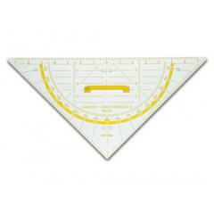 Geodriehoek Aristo 80cm voor schoolbord met gradenboog