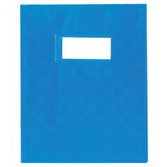 Schriftomslag PP 23x30cm met venster blauw