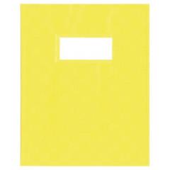 Schriftomslag PP 23x30cm met venster geel