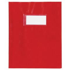 Schriftomslag PP 23x30cm met venster rood