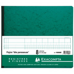 Register Exacompta 27x32cm 8 kolommen met inkeping