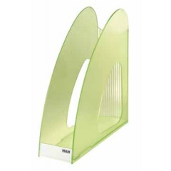 Tijdschriftenhouder Han Twin PP A4 transparant groen