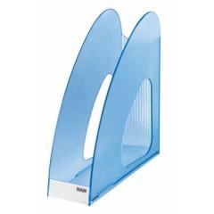 Tijdschriftenhouder Han Twin PP A4 transparant blauw