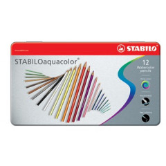 Kleurpotlood Stabilo Aquacolor assorti (12)