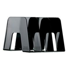 Boekensteun Han met 3 compartimenten zwart