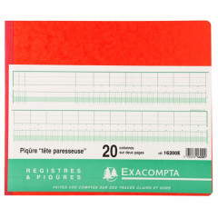 Register Exacompta 27x32mm 20 kolommen 80blz