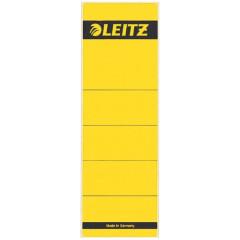 Rugetiket Leitz zelfklevend kort breed geel (10) (164215)