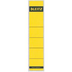 Rugetiket Leitz zelfklevend kort smal geel (10)