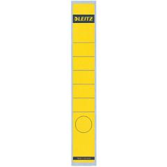 Rugetiket Leitz zelfklevend lang smal geel (10)