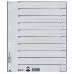 Tabbladen Leitz Staffel karton A4 grijs (100)