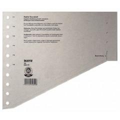 Scheidingsblad Leitz A4 200gr grijs (100)
