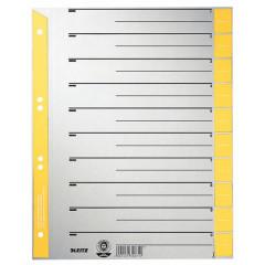 Tabbladen Leitz Staffel karton A4 6-gaats grijs/geel (100)