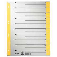 Scheidingsblad Leitz A4 230gr geel (100)
