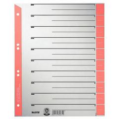 Tabbladen Leitz Staffel karton A4 grijs/rood (100)