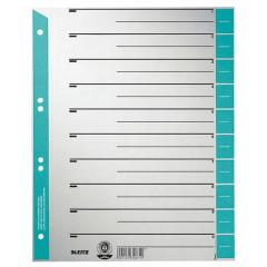 Tabbladen Leitz Staffel karton A4 6-gaats grijs/lichtblauw (100)