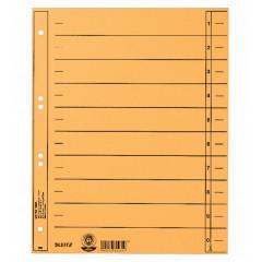Tabbladen Leitz Staffel karton A4 6-gaats geel (100)