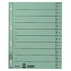 Scheidingsblad Leitz A4 230gr blauw (100)