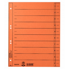 Scheidingsblad Leitz A4 230gr oranje (100)