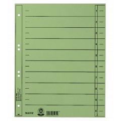 Tabbladen Leitz Staffel karton A4 6-gaats groen (100)