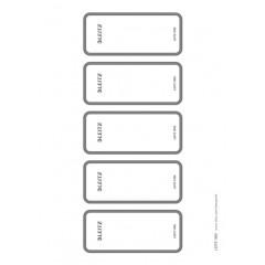 Rugetiket Leitz voor ordners WOW, Style, Solid en Unban Chic printbaar 46x111mm (50)