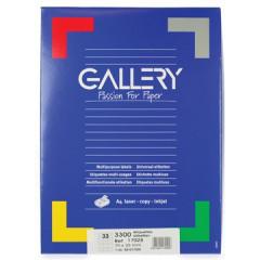 Etiketten Gallery 33 etik/bl 70x25mm (100)