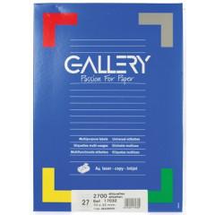 Etiketten Gallery 27 etik/bl 70x32mm (100)