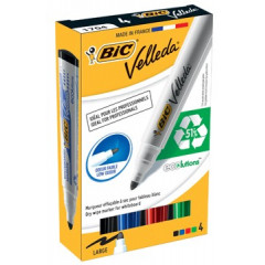 Whiteboardmarker Bic Velleda Ecolutions 1701 ronde punt 1,4mm assorti (4)