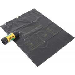 Vuilniszak Komo 60x80cm 60l 43µ LDPE met trekbandsluiting grijs (15)