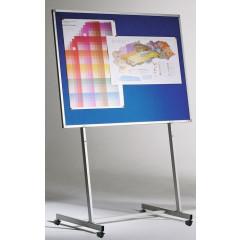 Bordstandaard Legamaster op wieltjes exclusief bord 70cm