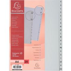 Tabbladen Exacompta PP A4 A-Z 11-gaats grijs
