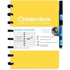 Schrift Correctbook A5 gelijnd herbruikbaar geel