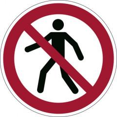 """Veiligheidsmarkering Durable sticker Ø430mm """"voetgangers verboden"""""""