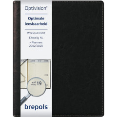 Agenda Brepols Optivision Large Palermo 168x220mm zwart 2021 1 week/2 pagina's