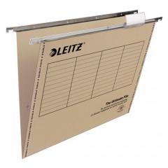 Hangmap Leitz Ultimate File karton A4 330mm V-bodem voor lade grijs (25)