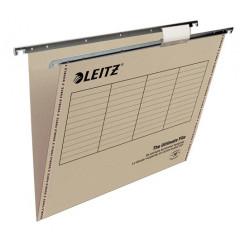 Hangmap Leitz Ultimate File karton folio 365mm V-bodem voor lade grijs (25)