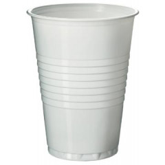 Automaatbeker uit polystyreen voor warme dranken 180ml wit (100)