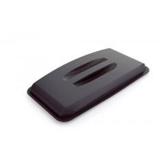 Deksel voor afvalbak Durable durabin 60l zwart