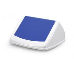 Deksel Durable Durabin FLIP LID Square 40 voor vuilnisbak 40l wit/blauw (8574014)