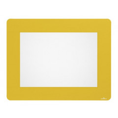 Vloermarkering Durable sticker kader voor A4 documenten verwijderbaar geel (10)