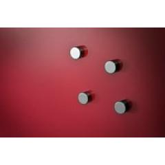 Magneet Legamaster voor glasborden Ø13mm zilverchroomkleur (6)