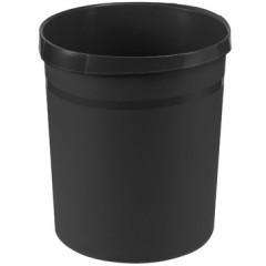 Papiermand Han 18l rond plastic zwart