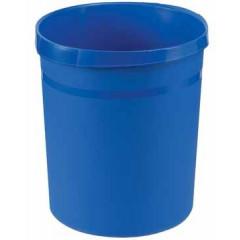 Papiermand Han 18l rond plastic blauw