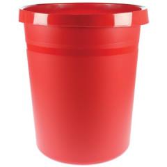 Papiermand Han 18l rond plastic rood